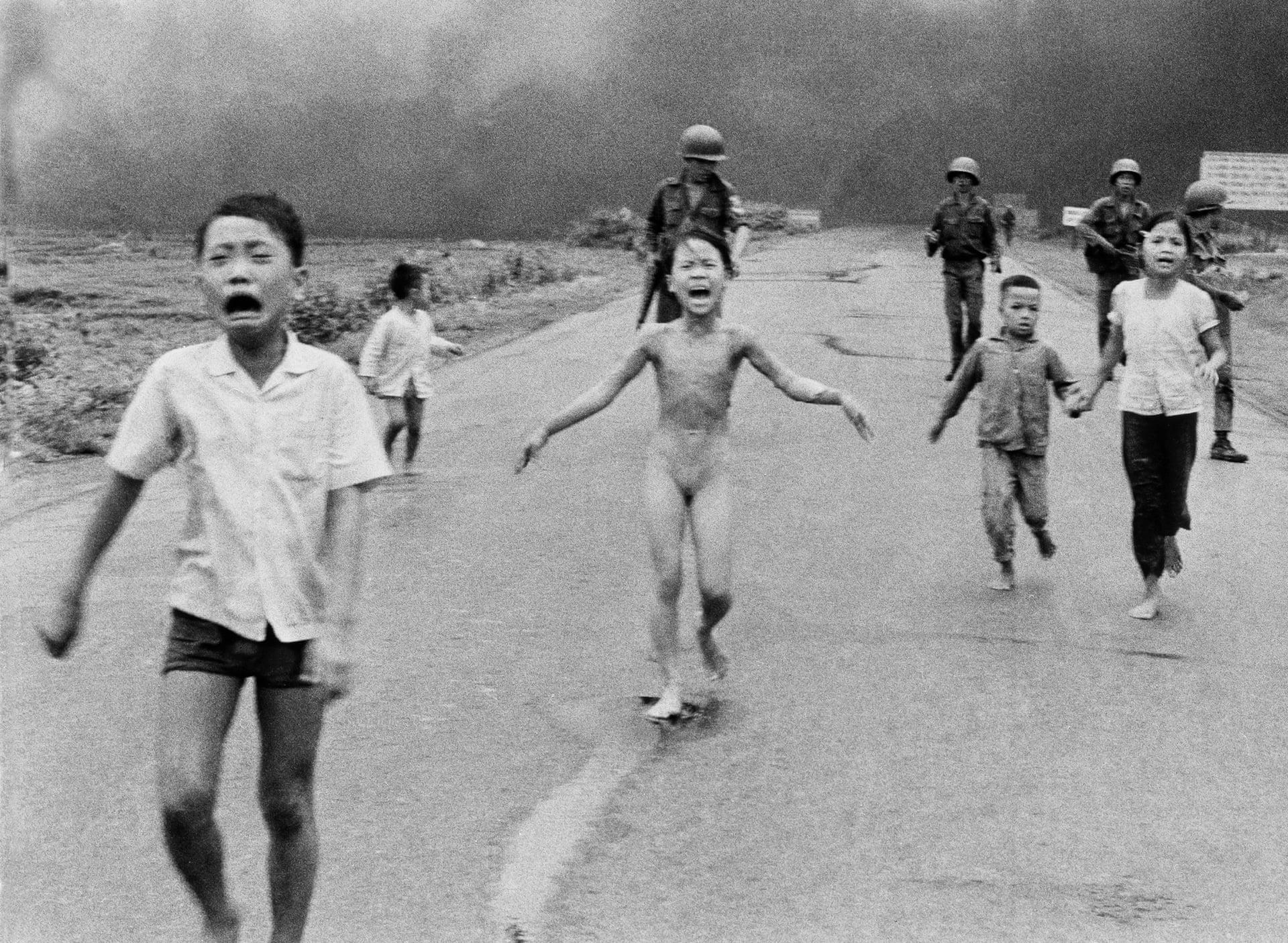 Nine-year-old Kim Phuc, known as Napalm Girl,                       1972 Nick Ut